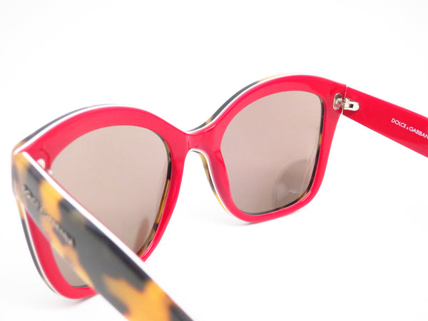 Dolce & Gabbana DG 4240 2893/6G Top Havana on Red Sunglasses - Eye Heart Shades - Dolce & Gabbana - Sunglasses - 6