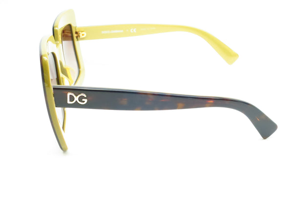 Dolce & Gabbana DG 4263 2956/13 Top Havana on Gold Sunglasses - Eye Heart Shades - Dolce & Gabbana - Sunglasses - 6