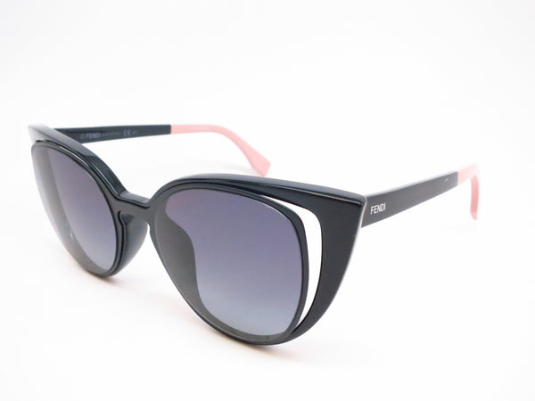 Fendi FF 0136 NY1/HD Matte Shiny Black Sunglasses - Eye Heart Shades - Fendi - Sunglasses - 1