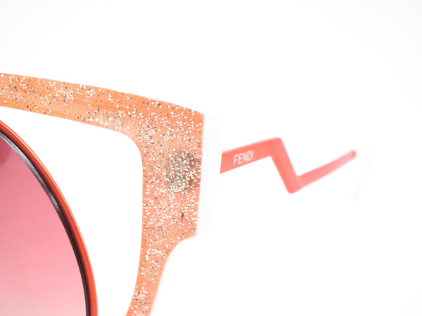 Fendi FF 0137 NUG/4C Orange Glitter Green Sunglasses - Eye Heart Shades - Fendi - Sunglasses - 3