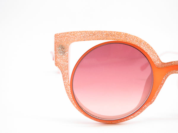 Fendi FF 0137 NUG/4C Orange Glitter Green Sunglasses - Eye Heart Shades - Fendi - Sunglasses - 4