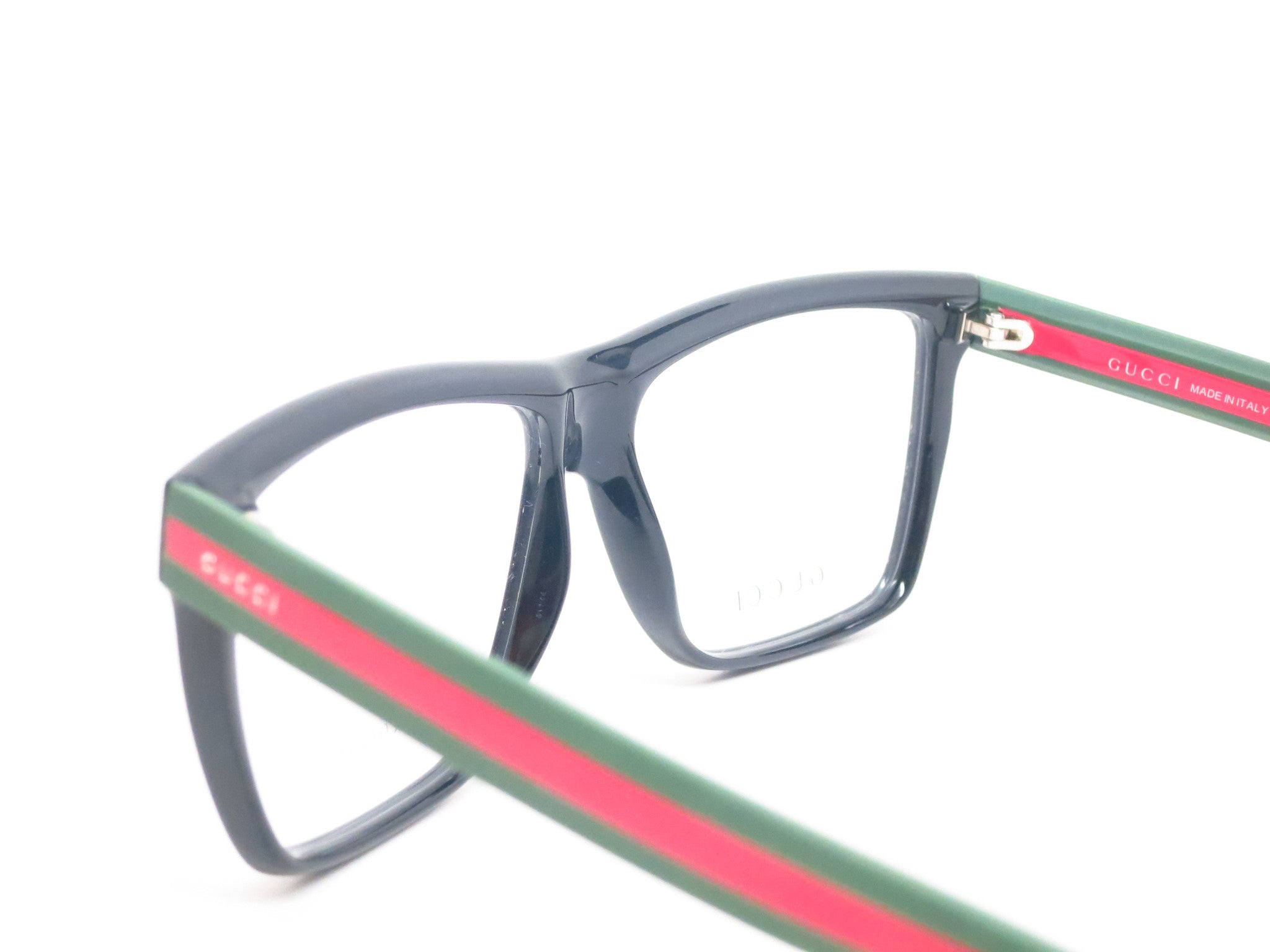 Gucci GG 1008 Black Green Red 51N Eyeglasses - Eye Heart Shades