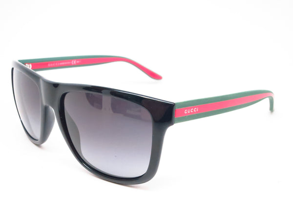 Gucci GG 1118 51N/90 Black Green Red Sunglasses - Eye Heart Shades - Gucci - Sunglasses - 1