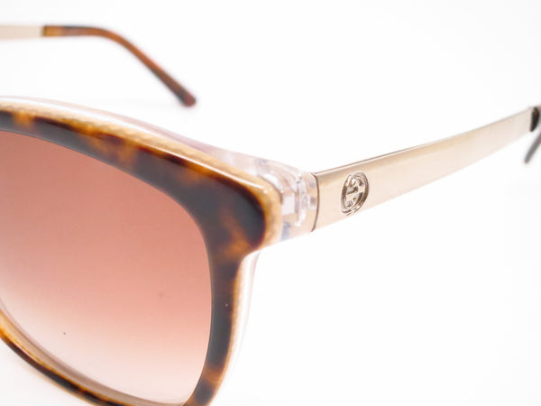 Gucci GG 3675/S 4WJ/YY Havana Light Gold Sunglasses - Eye Heart Shades - Gucci - Sunglasses - 3