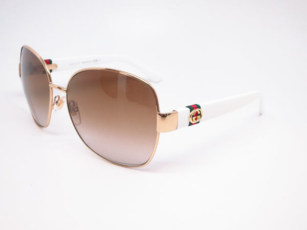 Gucci GG 4242 GG4242S Gold/White 24S6Y Sunglasses - Eye Heart Shades - Gucci - Sunglasses - 1
