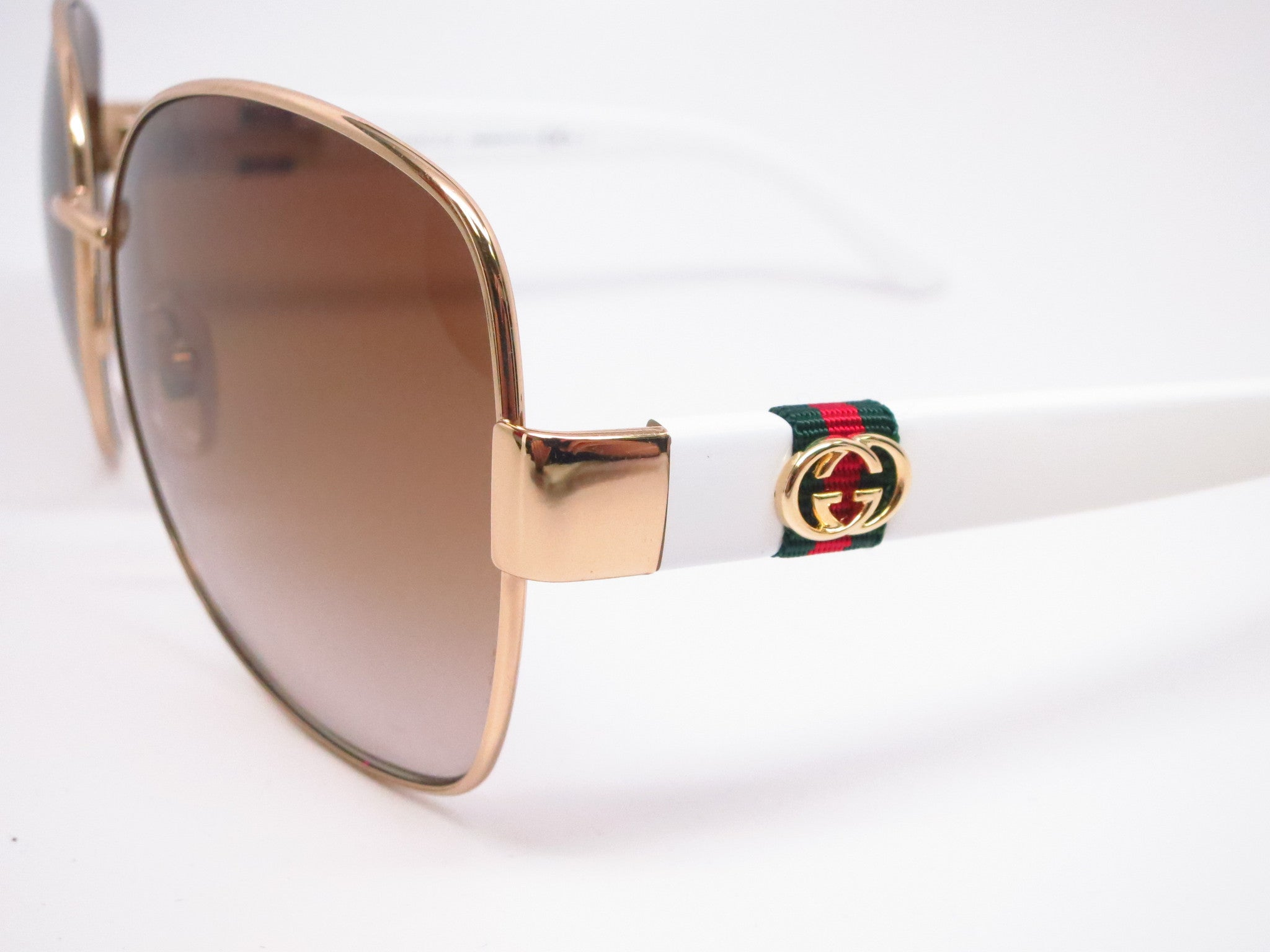 d9b59ad0e8 ... Gucci GG 4242 GG4242S Gold White 24S6Y Sunglasses - Eye Heart Shades -  Gucci ...