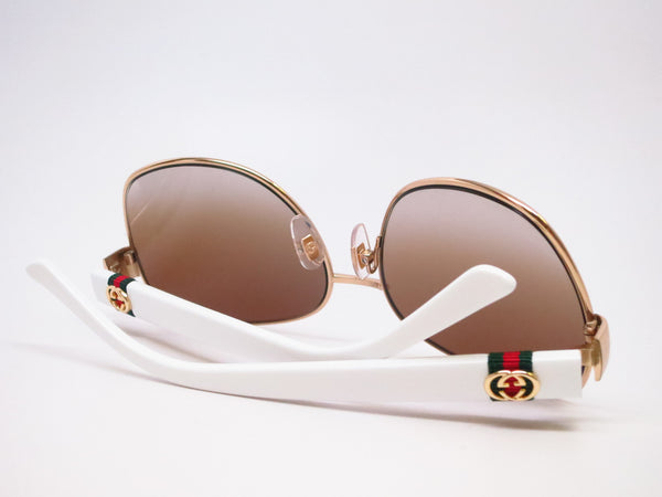 Gucci GG 4242 GG4242S Gold/White 24S6Y Sunglasses - Eye Heart Shades - Gucci - Sunglasses - 8