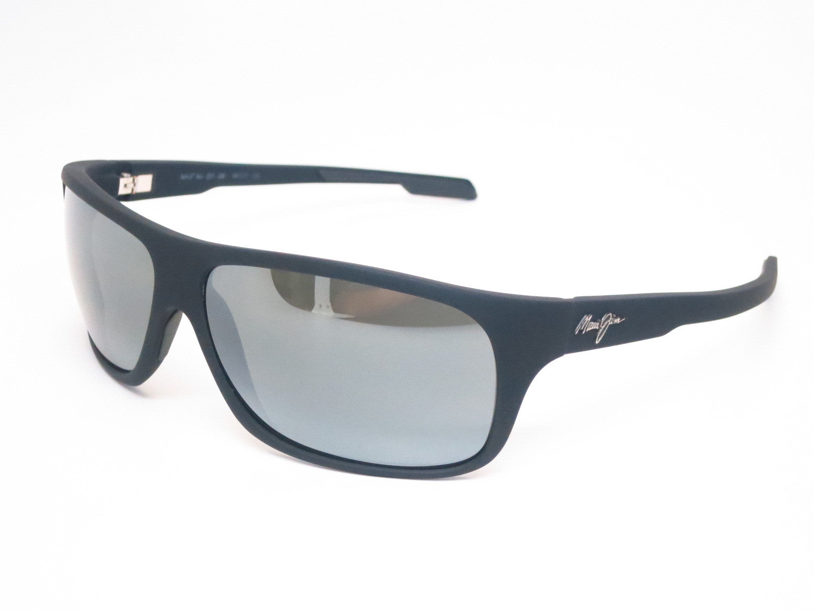 cc6b185a830 Maui Jim Island Time MJ 237-2M Black Matte Rubber Polarized Sunglasses -  Eye Heart ...