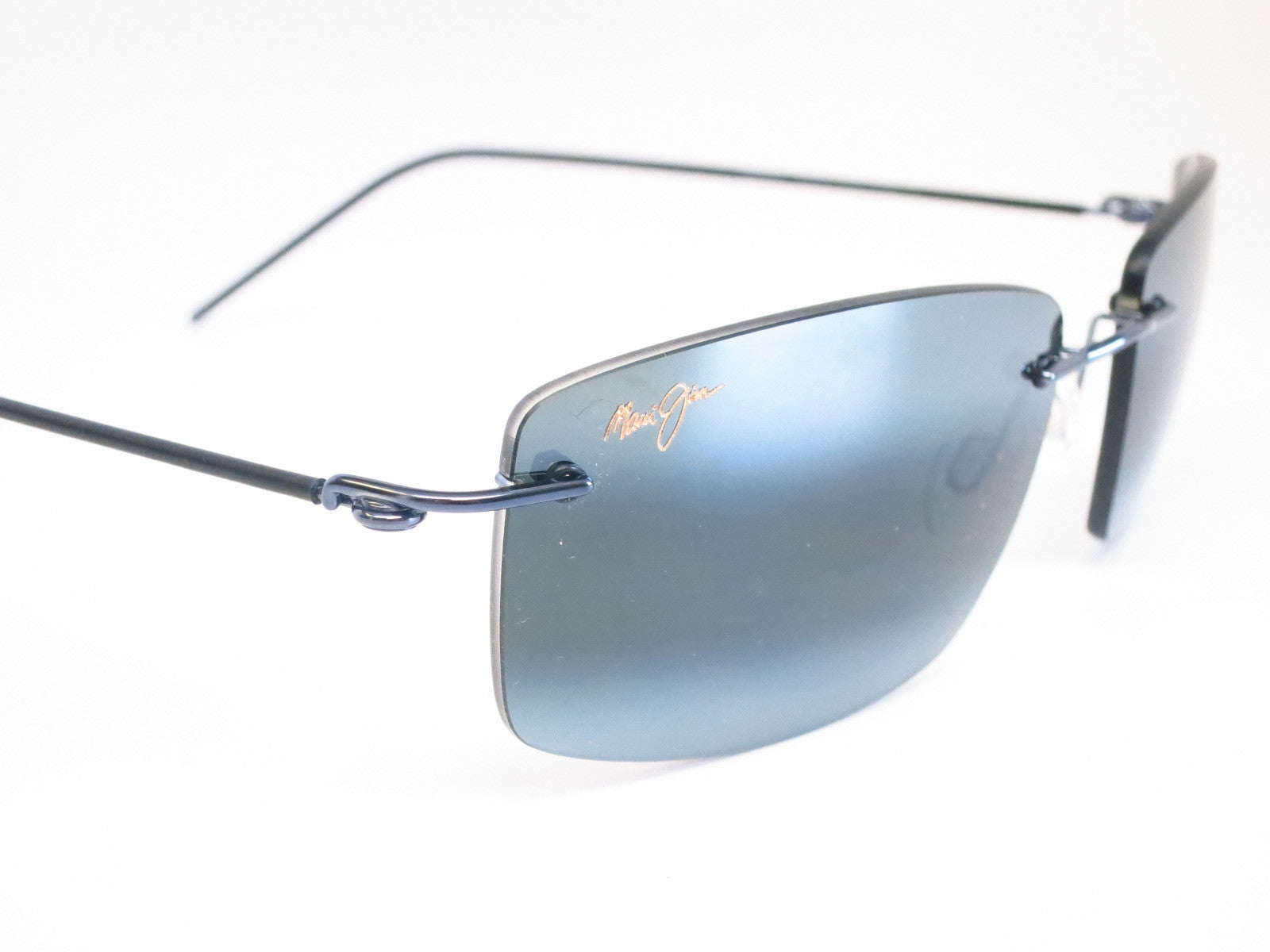 499e28773b3 ... Maui Jim Sandhill 715-06 Gunmetal Blue   Black Sleeve Polarized  Sunglasses - Eye Heart ...