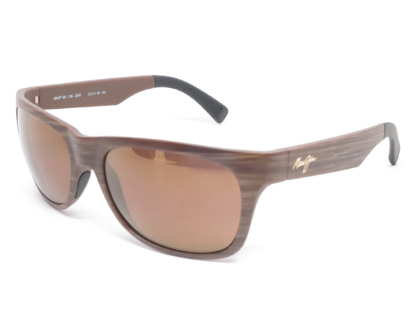 Maui Jim Kahi MJ H736-25W Matte Brown Wood Grain Polarized Sunglasses - Eye Heart Shades - Maui Jim - Sunglasses - 1