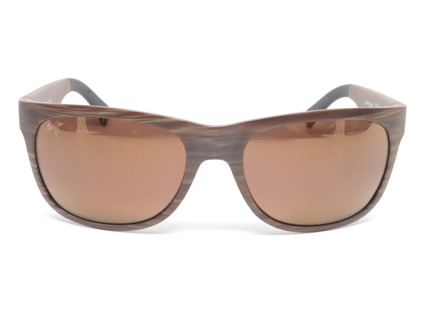 Maui Jim Kahi MJ H736-25W Matte Brown Wood Grain Polarized Sunglasses - Eye Heart Shades - Maui Jim - Sunglasses - 2
