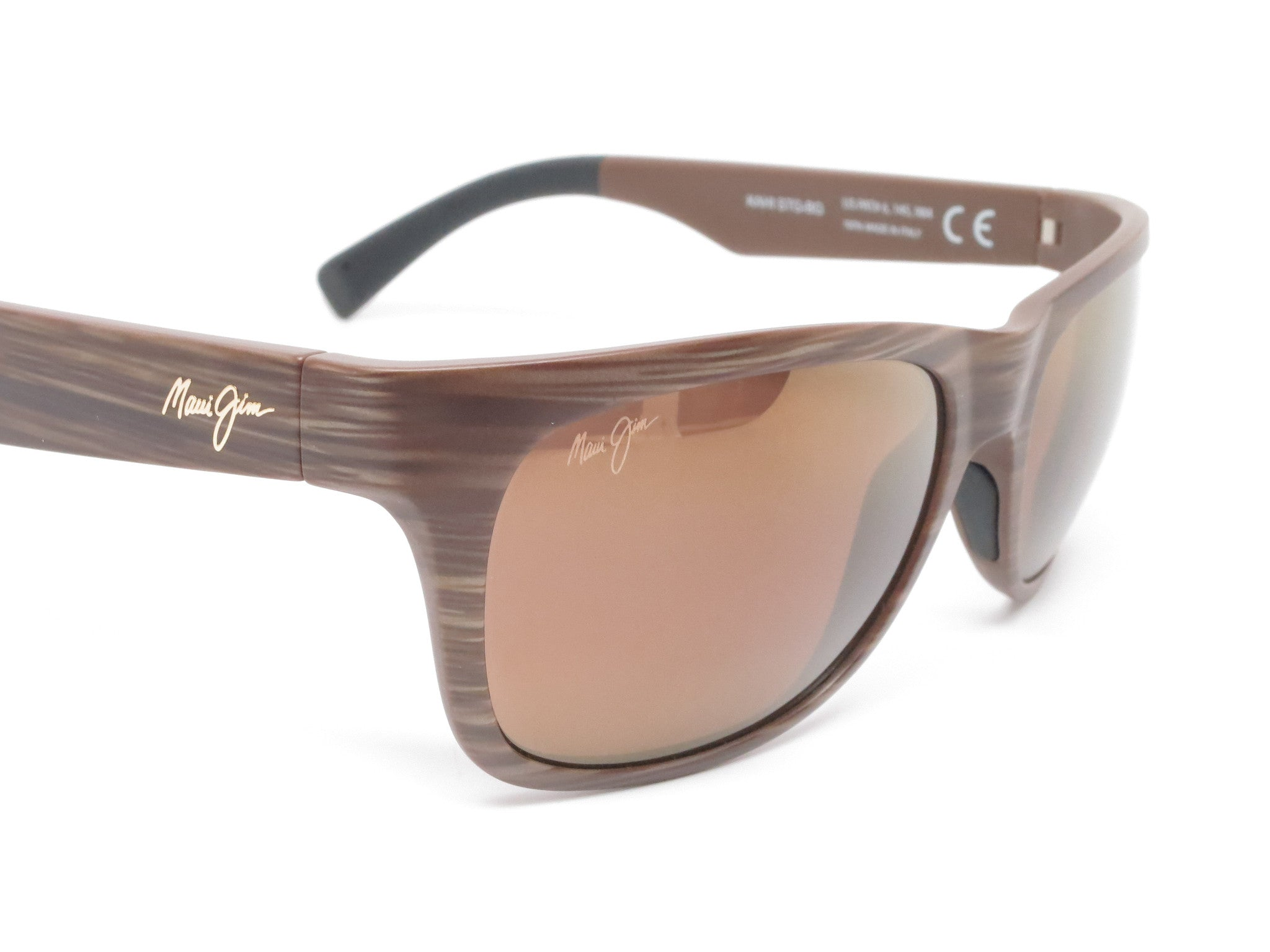 Maui Jim Kahi Mj H736 25w Matte Brown Wood Grain Polarized