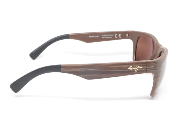Maui Jim Kahi MJ H736-25W Matte Brown Wood Grain Polarized Sunglasses - Eye Heart Shades - Maui Jim - Sunglasses - 4