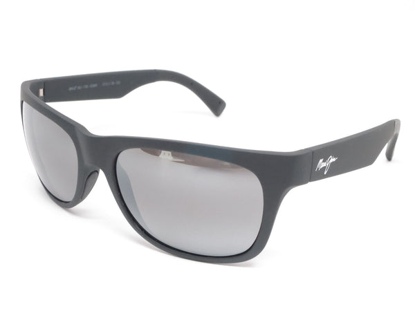 Maui Jim Kahi MJ 736-02MR Matte Black Rubber Polarized Sunglasses - Eye Heart Shades - Maui Jim - Sunglasses - 1