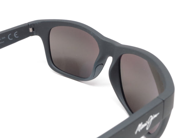 Maui Jim Kahi MJ 736-02MR Matte Black Rubber Polarized Sunglasses - Eye Heart Shades - Maui Jim - Sunglasses - 5