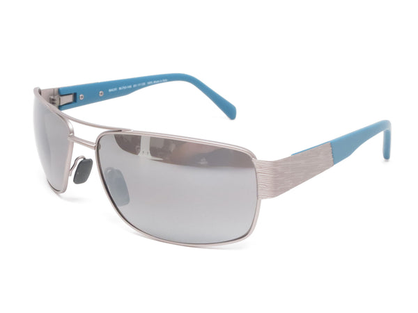 Maui Jim Ohia MJ 703-14A Satin Grey w/Blue Tips Polarized Sunglasses - Eye Heart Shades - Maui Jim - Sunglasses - 1