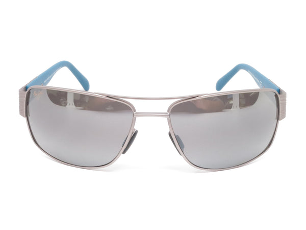 Maui Jim Ohia MJ 703-14A Satin Grey w/Blue Tips Polarized Sunglasses - Eye Heart Shades - Maui Jim - Sunglasses - 2