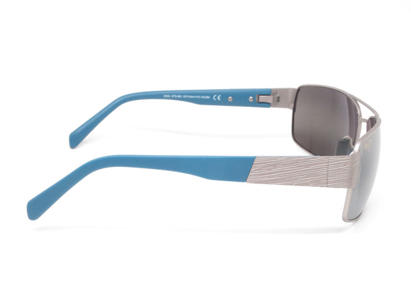 Maui Jim Ohia MJ 703-14A Satin Grey w/Blue Tips Polarized Sunglasses - Eye Heart Shades - Maui Jim - Sunglasses - 4