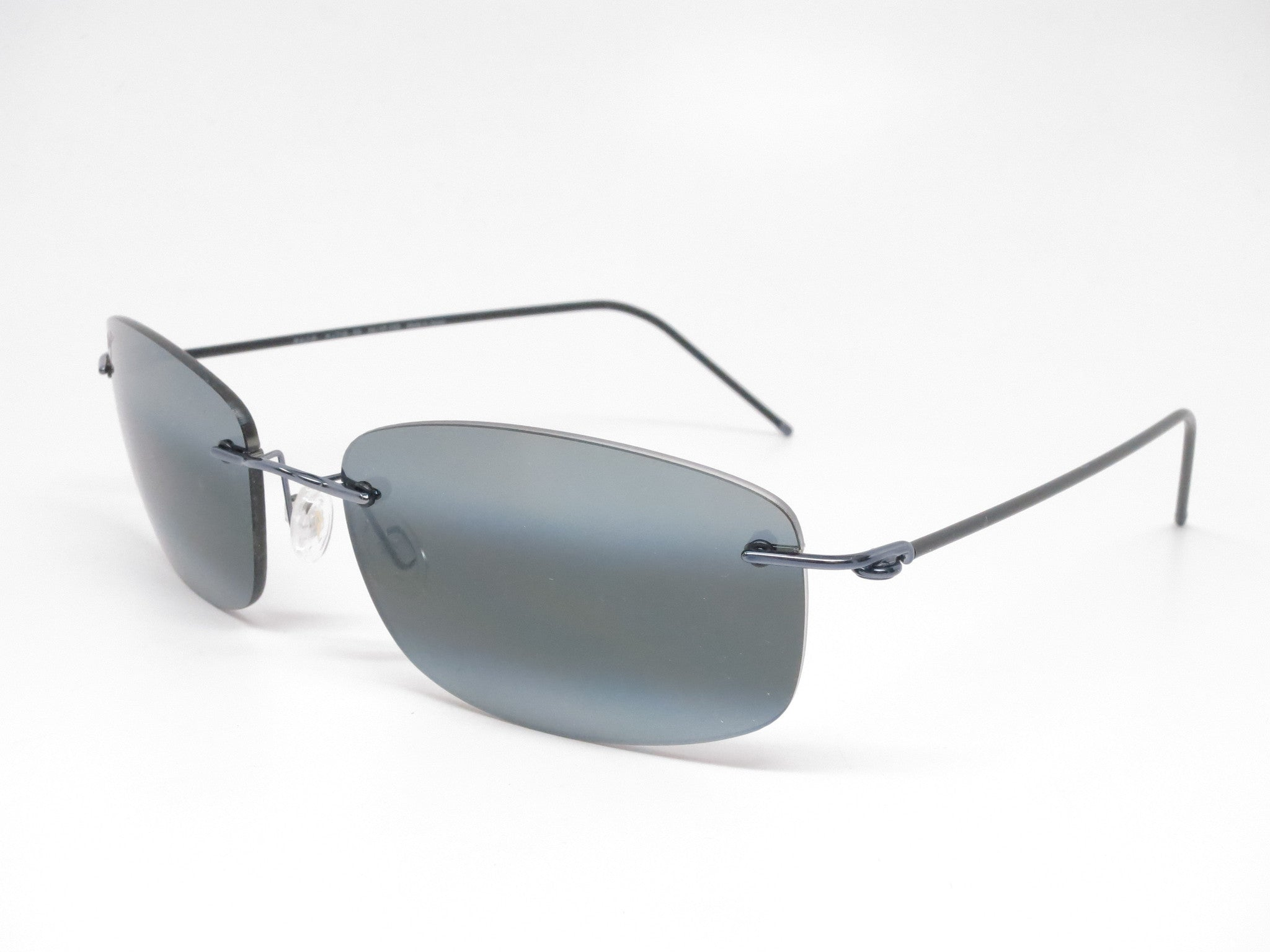 97735b6e7c Maui Jim Myna MJ 718-06 Gunmetal Blue Black Sleeve Polarized Sunglasses -  Eye ...