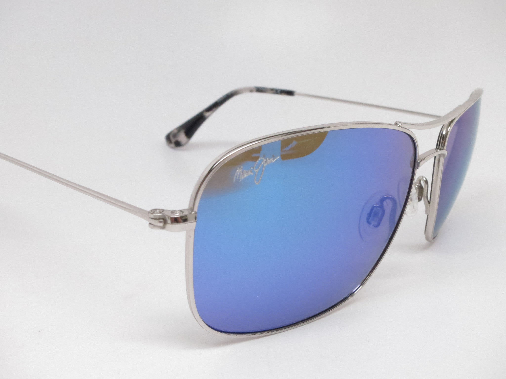 14b03a024837 Maui Jim Wiki Wiki MJ B246-17 Silver Polarized Sunglasses - Eye ...