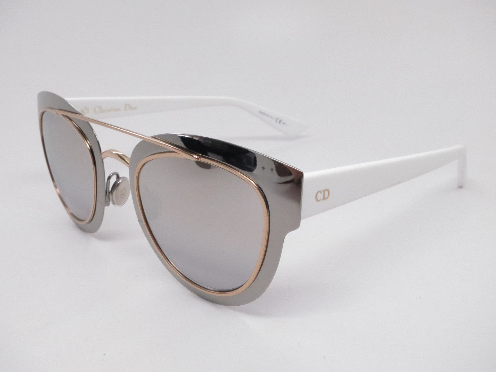 832941b60d Dior Chromic LMJ96 Ruthenium Gold White Sunglasses - Eye Heart Shades