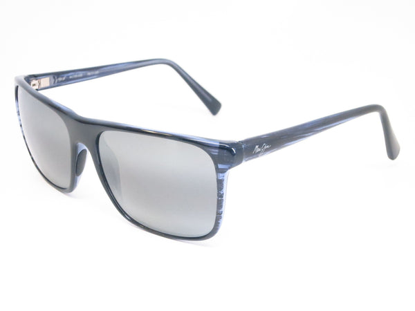 Maui Jim Flat Island 705-03S Blue Stripe Polarized Sunglasses - Eye Heart Shades - Maui Jim - Sunglasses - 1