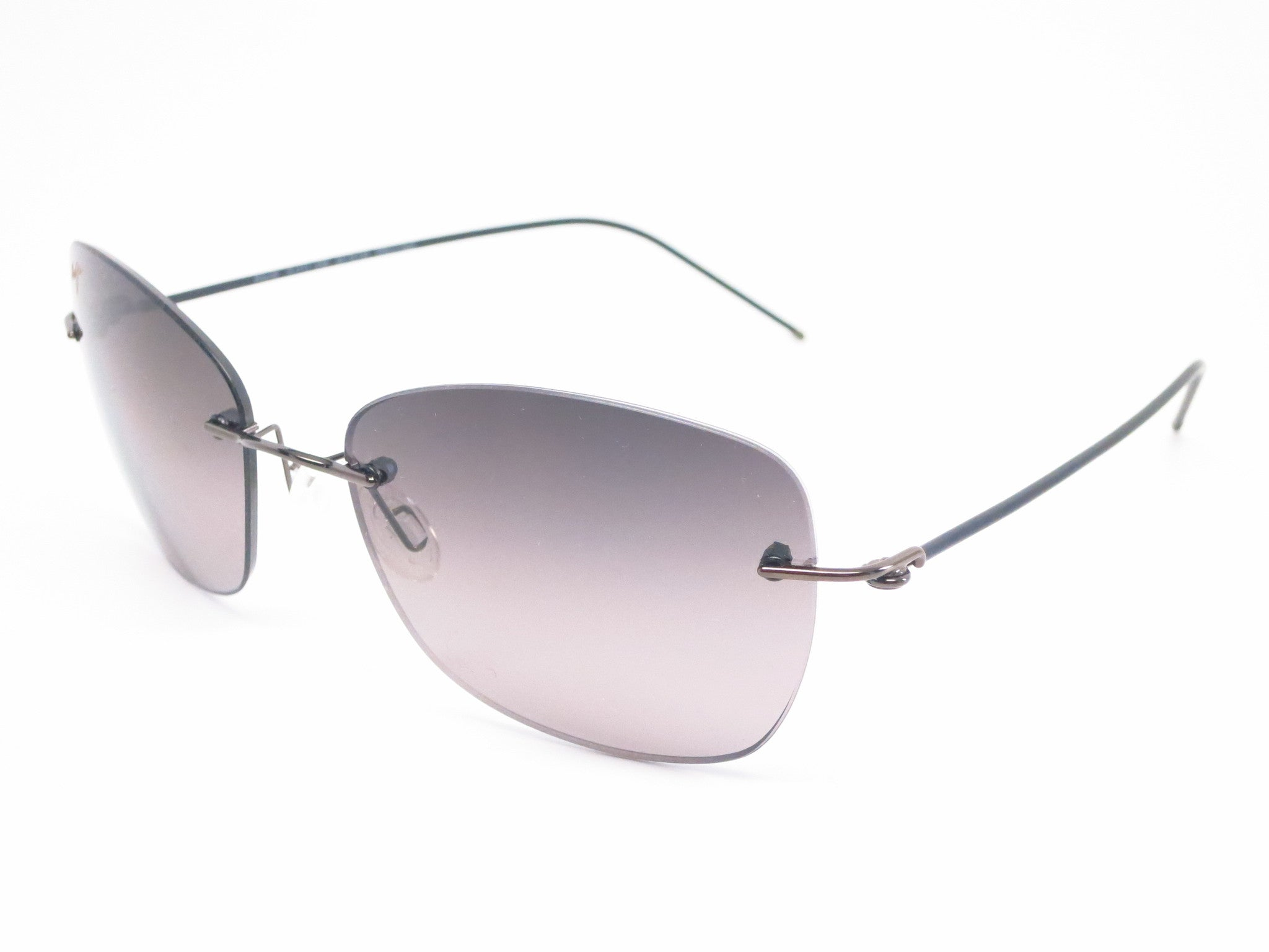 d1b04da69117 Maui Jim Apapane MJ GS717-02D Dark Gunmetal/Black sleeve Polarized  Sunglasses - Eye ...