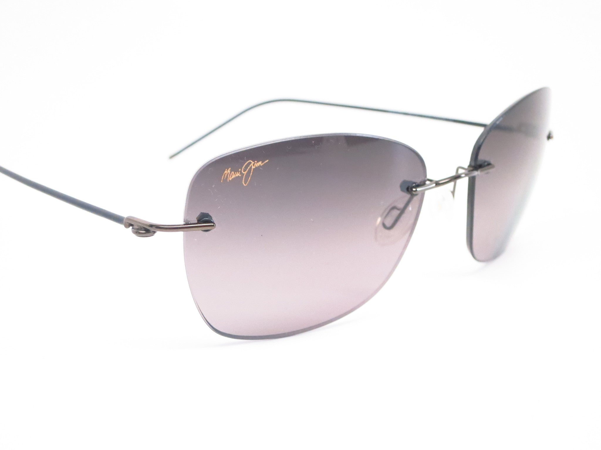 a9afc3a55f32 ... Maui Jim Apapane MJ GS717-02D Dark Gunmetal/Black sleeve Polarized  Sunglasses - Eye ...
