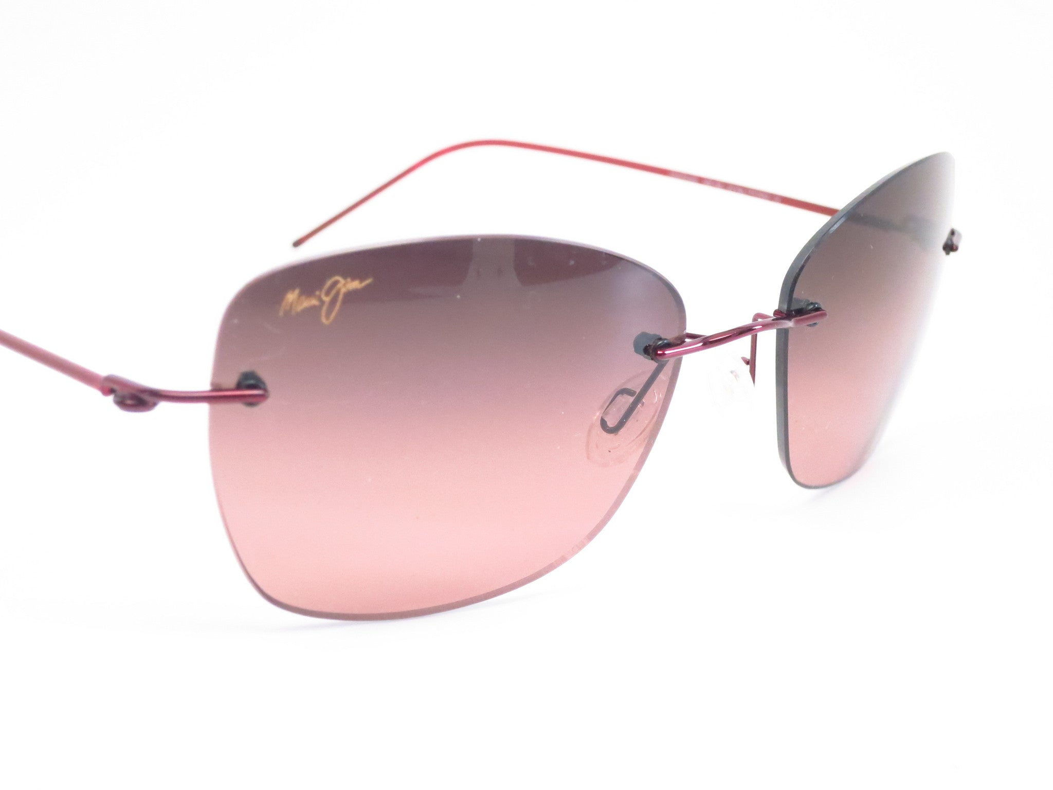 02725135eb41 ... Maui Jim Apapane MJ RS717-07 Burgandy/Red sleeve Polarized Sunglasses -  Eye Heart ...