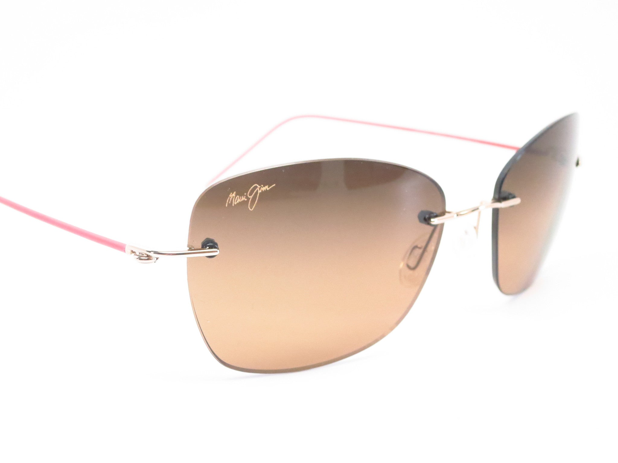 be6fcf60b32f ... Maui Jim Apapane MJ HS717-16 Gold Pink sleeve Polarized Sunglasses -  Eye Heart ...