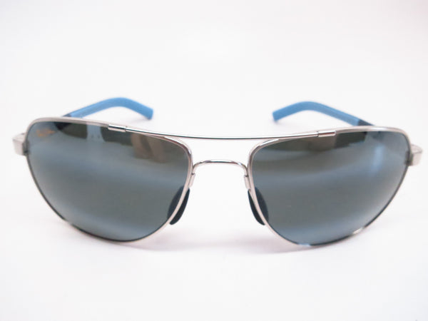 Maui Jim Guardrails MJ 327-17 Silver with Blue & Light Blue Polarized Sunglasses - Eye Heart Shades - Maui Jim - Sunglasses - 2