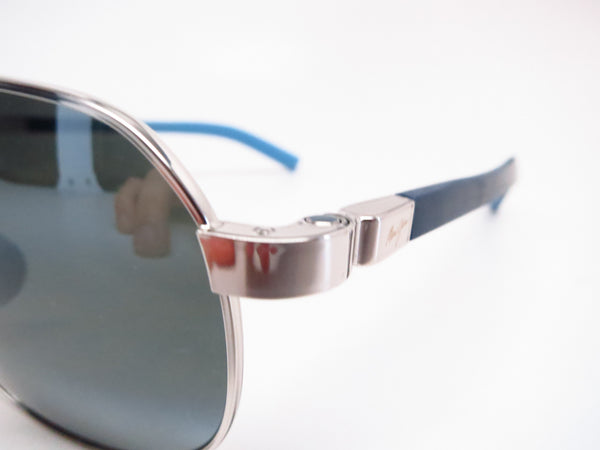 Maui Jim Guardrails MJ 327-17 Silver with Blue & Light Blue Polarized Sunglasses - Eye Heart Shades - Maui Jim - Sunglasses - 3