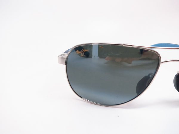 Maui Jim Guardrails MJ 327-17 Silver with Blue & Light Blue Polarized Sunglasses - Eye Heart Shades - Maui Jim - Sunglasses - 4