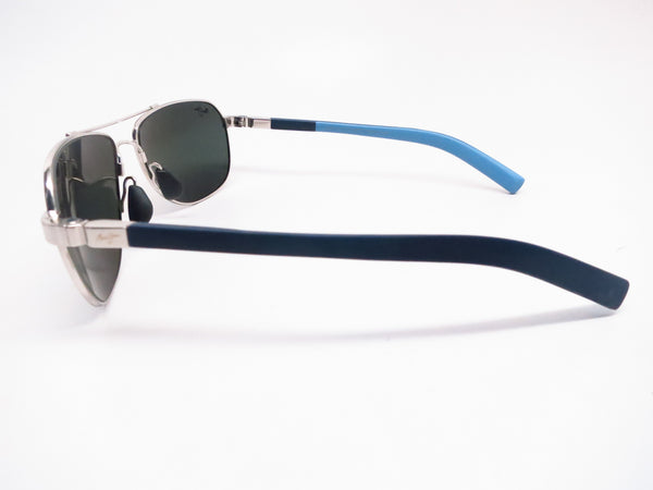 Maui Jim Guardrails MJ 327-17 Silver with Blue & Light Blue Polarized Sunglasses - Eye Heart Shades - Maui Jim - Sunglasses - 5