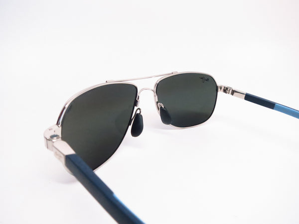 Maui Jim Guardrails MJ 327-17 Silver with Blue & Light Blue Polarized Sunglasses - Eye Heart Shades - Maui Jim - Sunglasses - 6