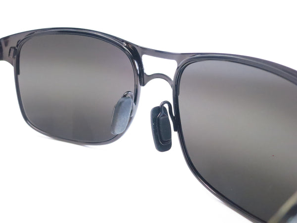 Maui Jim Hang Ten 10 MJ 296-02F Gunmetal Polarized Sunglasses - Eye Heart Shades - Maui Jim - Sunglasses - 4