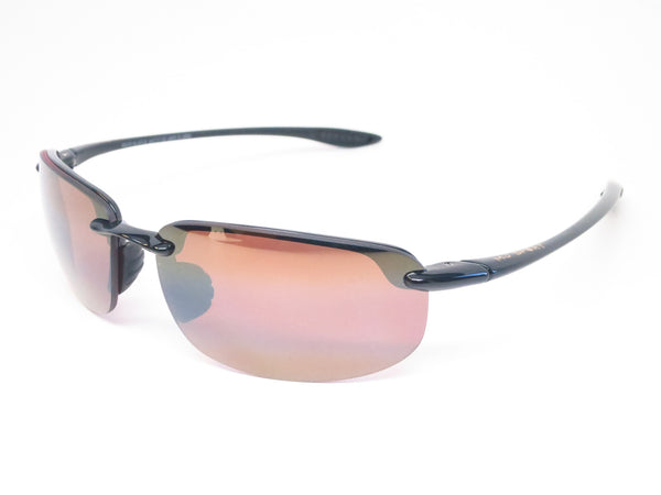 Maui Jim Hookipa H407-02 Gloss Black Polarized Sunglasses - Eye Heart Shades - Maui Jim - Sunglasses - 1