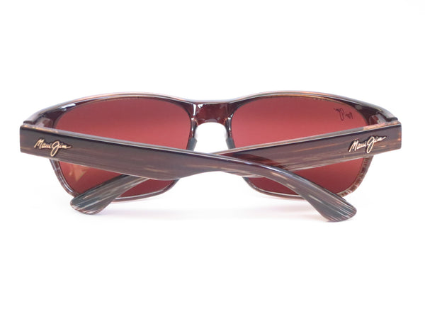 Maui Jim MJ R721-01 Mixed Plate Chocolate Stripe Fade Polarized Sunglasses - Eye Heart Shades - Maui Jim - Sunglasses - 11