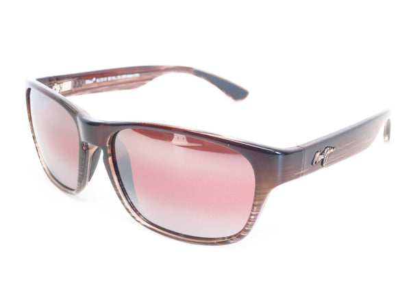 Maui Jim MJ R721-01 Mixed Plate Chocolate Stripe Fade Polarized Sunglasses - Eye Heart Shades - Maui Jim - Sunglasses - 1