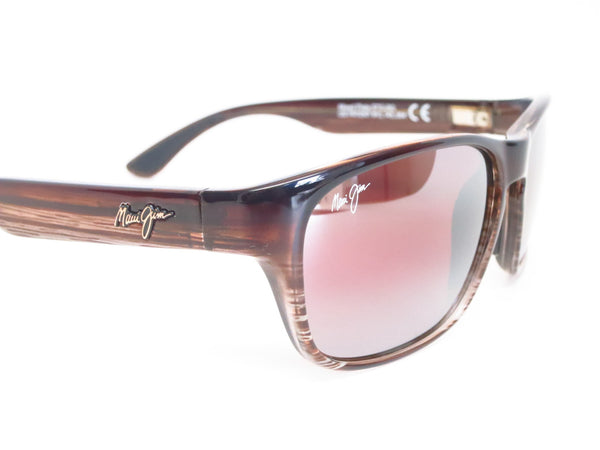 Maui Jim MJ R721-01 Mixed Plate Chocolate Stripe Fade Polarized Sunglasses - Eye Heart Shades - Maui Jim - Sunglasses - 3