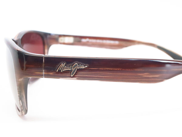 Maui Jim MJ R721-01 Mixed Plate Chocolate Stripe Fade Polarized Sunglasses - Eye Heart Shades - Maui Jim - Sunglasses - 4