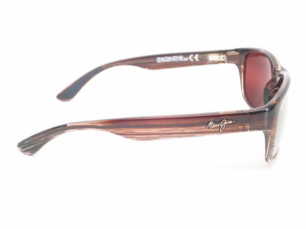 Maui Jim MJ R721-01 Mixed Plate Chocolate Stripe Fade Polarized Sunglasses - Eye Heart Shades - Maui Jim - Sunglasses - 5