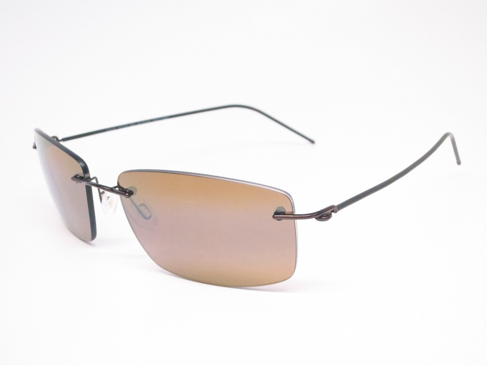 ccfeb3491c7a3 Maui Jim Sandhill H715-25A Gloss Dark Brown   Brown Sleeve Polarized  Sunglasses - Eye ...