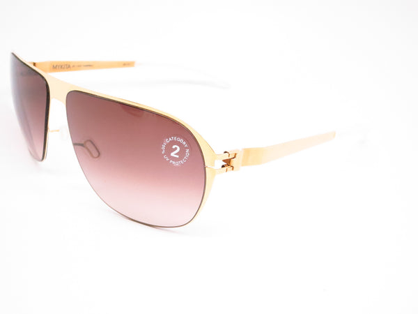 Mykita No1 Sun Campbell 013 Glossy Gold w/Brown Gradient Sunglasses - Eye Heart Shades - Mykita - Sunglasses - 1