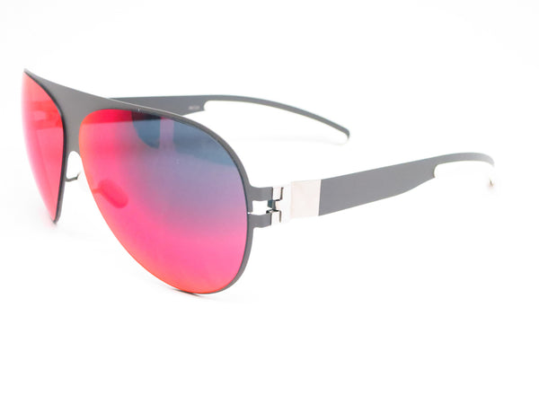 Mykita Bernard Willhelm Franz F61 Basalt w/Scarlet Flash Mirrored Sunglasses - Eye Heart Shades - Mykita - Sunglasses - 1