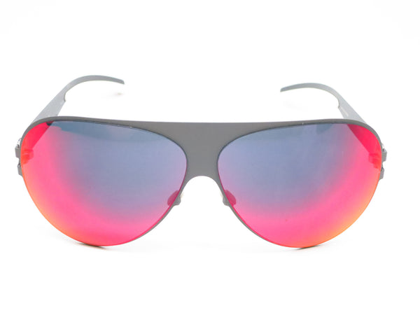 Mykita Bernard Willhelm Franz F61 Basalt w/Scarlet Flash Mirrored Sunglasses - Eye Heart Shades - Mykita - Sunglasses - 2