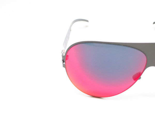 Mykita Bernard Willhelm Franz F61 Basalt w/Scarlet Flash Mirrored Sunglasses - Eye Heart Shades - Mykita - Sunglasses - 4
