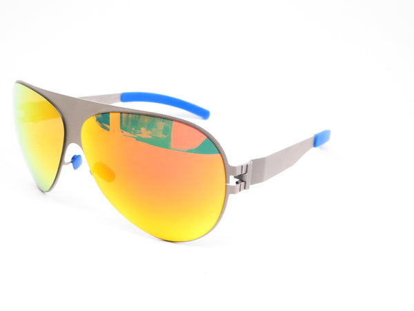 Mykita Bernard Willhelm Franz F64 Matte Grey w/Orange Flash Mirrored Sunglasses - Eye Heart Shades - Mykita - Sunglasses - 1