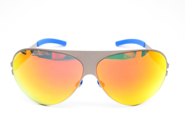 Mykita Bernard Willhelm Franz F64 Matte Grey w/Orange Flash Mirrored Sunglasses - Eye Heart Shades - Mykita - Sunglasses - 2