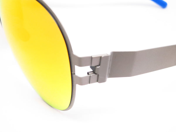 Mykita Bernard Willhelm Franz F64 Matte Grey w/Orange Flash Mirrored Sunglasses - Eye Heart Shades - Mykita - Sunglasses - 3